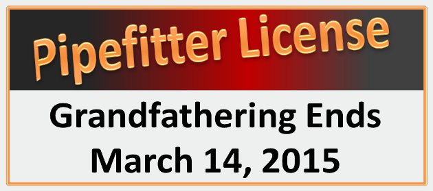 New Pipefitter License