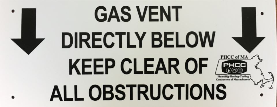 Gas Vent Sign - Non-Member