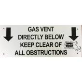 Gas Vent Sign - Non-Member